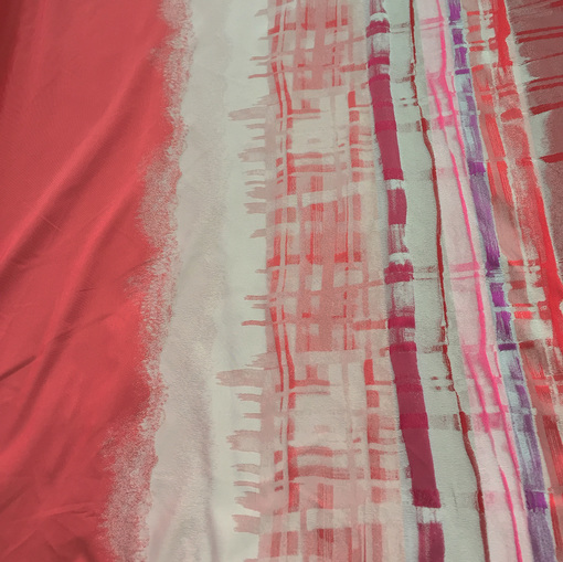 Жаккард купонный принт Antonio Marras в красных тонах