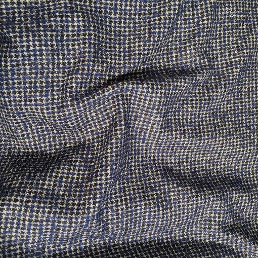 Ткань костюмная пье-де-пуль Burberry в синих тонах