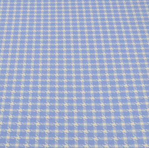 Костюмная шерстяная шанель голубые гусиные лапки Gai Mattiolo