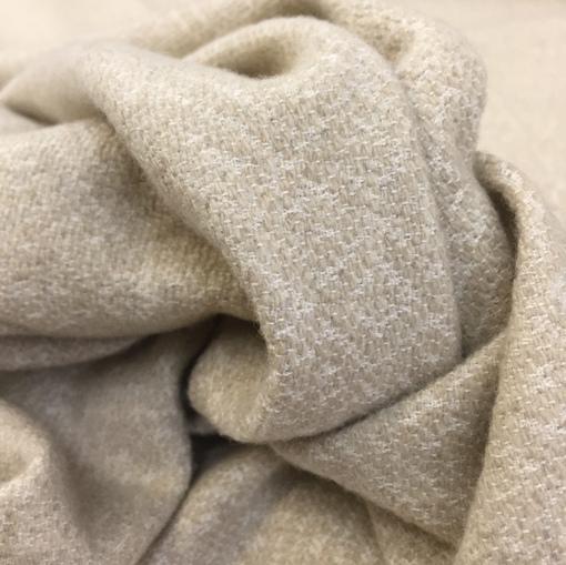 Пальтово-костюмная ткань купоны принт Max Mara бежевого цвета