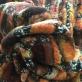 Ткань пальтовая мягкая букле стрейч в охристых тонах