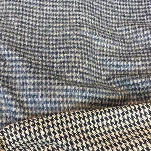 Ткань пальтовая Burberry двухсторонняя в сине-молочных тонах