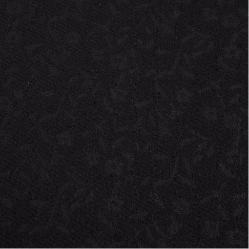 Пальтово-костюмный жаккард черного цвета в мелкие цветы