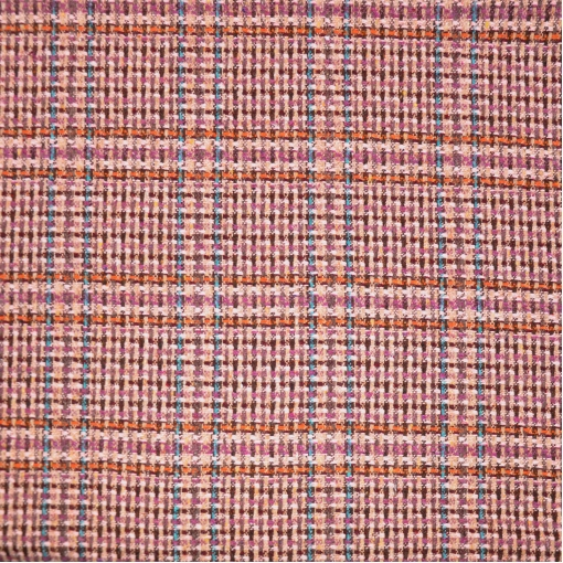 Шанель шерстяная пальтовая в фиолетово-розовых тонах