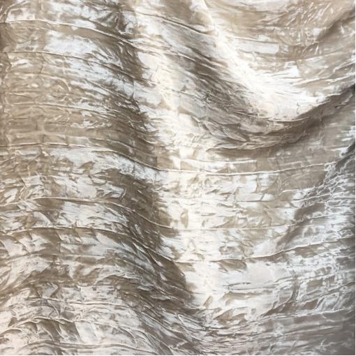 Бархат вискозный дизайн Anais Jourden креш жемчужно-пудрового цвета