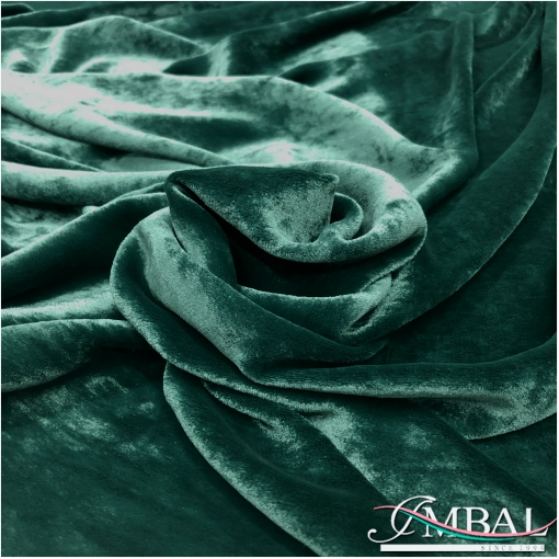 Панбархат на шелковой основе цвета темного изумруда