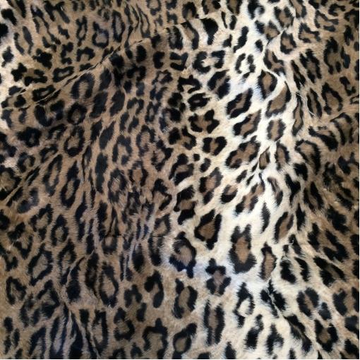 Мех искусственный мелковорсовый под леопард