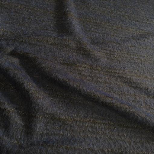 Ткань пальтовая оригинальная дизайн Armani с черной люрексовой нитью