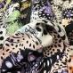 Хлопок костюмный стрейч принт Just Cavalli стилизованные цветы и горошки