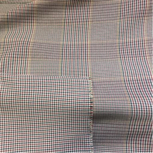 Хлопок костюмный дизайн HERNO мелкий черно-малиновый пье-де-пуль