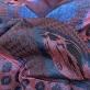 Жаккард нарядный дизайн Ferragamo купон в бордово-синей гамме