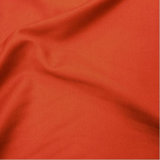 Ткань костюмная шерстяная стрейч Valentino морковного цвета с отливом