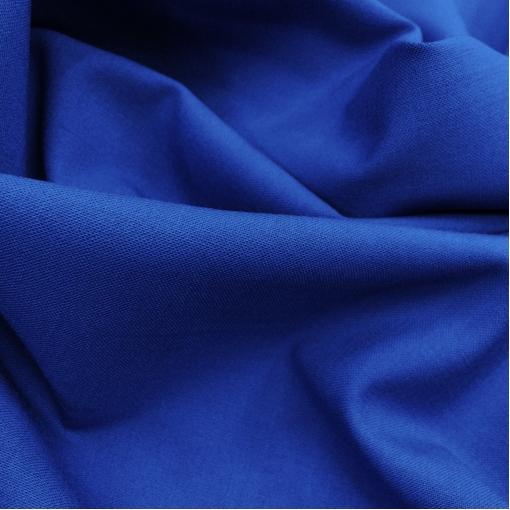 Ткань костюмная шерстяная стрейч Valentino средне-синего цвета с отливом
