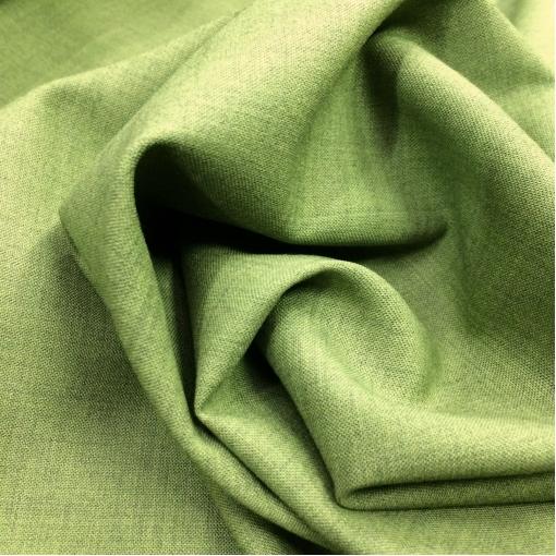 Ткань костюмная шерстяная стрейч Valentino цвета молодой зелени с отливом