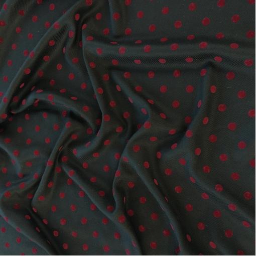 Ткань пальтово-костюмная Sportmax с бархатными горошинами