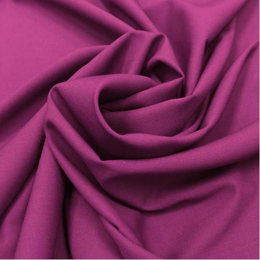 Ткань костюмная шерстяная стрейч дизайн Valentino цвета темная фуксия