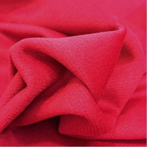 Ткань пальтовая с кашемиром ярко-малинового цвета