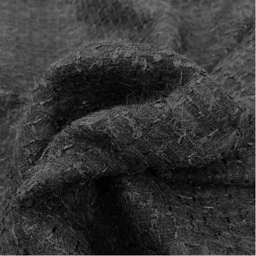 Шанель пальтово-костюмная шерстяная черного цвета с отливом