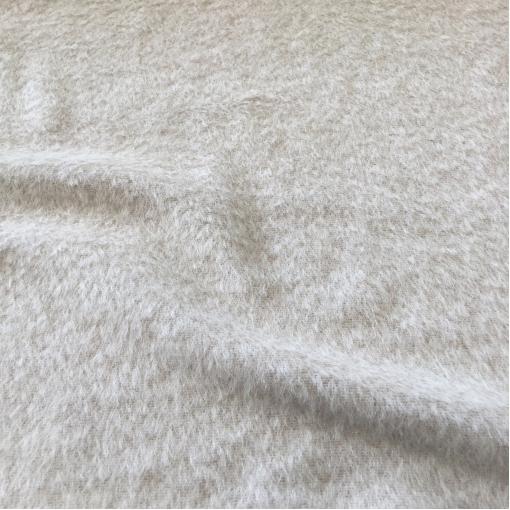 Ткань пальтовая ворсовая шерстяная ванильного цвета с альпакой