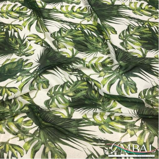 Шелк шифон жаккардовый дизайн Setarium тропические листья