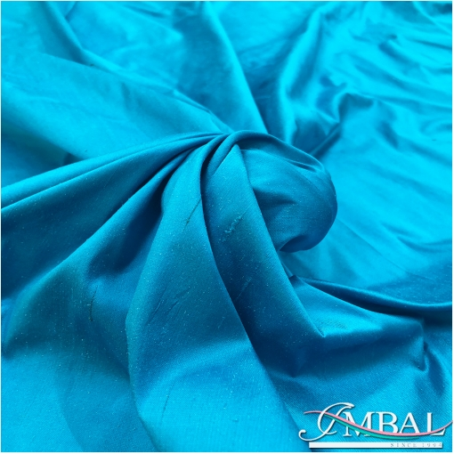 Шелк шантунг атласный небесно-голубого цвета