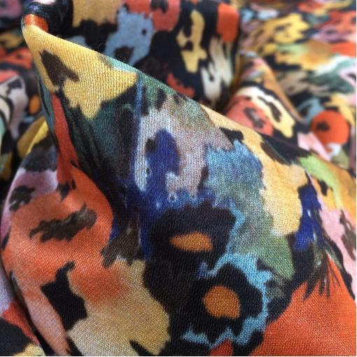 Шелк принт Armani полупрозрачный с отливом стилизованные цветы