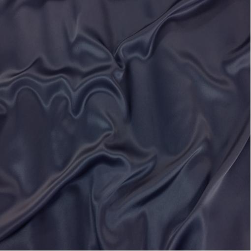 Шелк атласный стрейч синего цвета