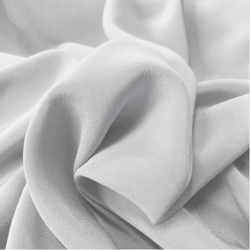 Крепдешин шелковый стрейч жемчужно-белого цвета