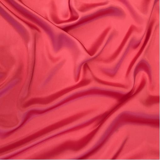 Шелк атласный непрозрачный цвета яркий гренадин