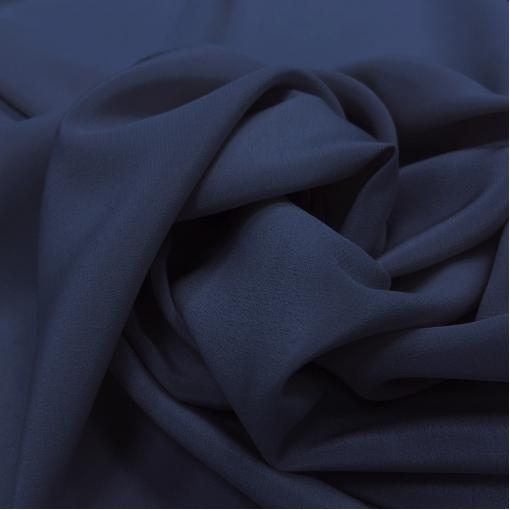 Шелк крепдешин сине-чернильного цвета