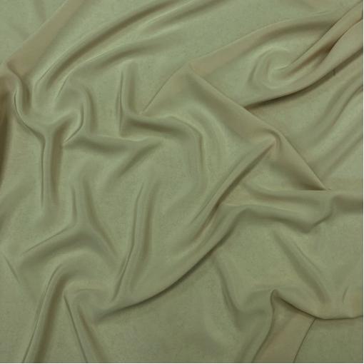 Шелк крепдешин стрейч серо-оливкового цвета