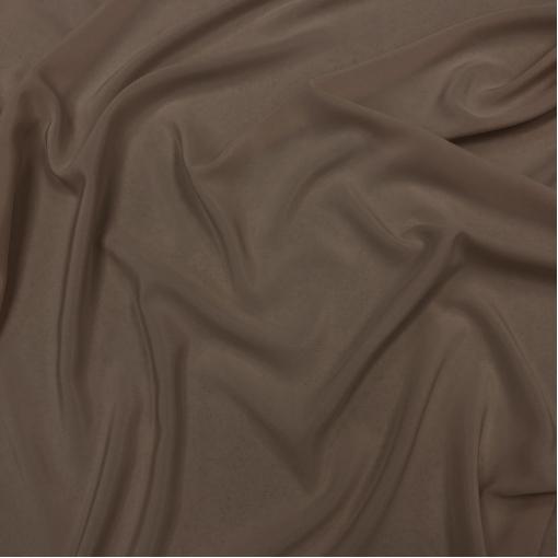 Шелк крепдешин стрейч цвета молочного шоколада