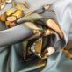 Джерси вискозное стрейч принт Blumarine цветы на сером фоне