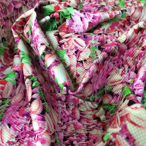 Хлопок жаккардовый принт Ferragamo мелкие цветы