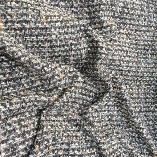 Шанель нарядная шерстяная в серой гамме с люрексом