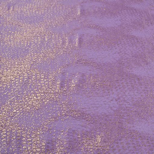 Сиренево-розовый жаккард с золотым леопардом