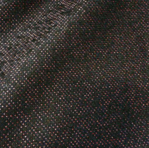 Твид костюмный с черной и алой нитью