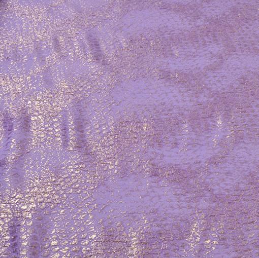 шерстяной нарядный жаккард сиреневого цвета с люрексом