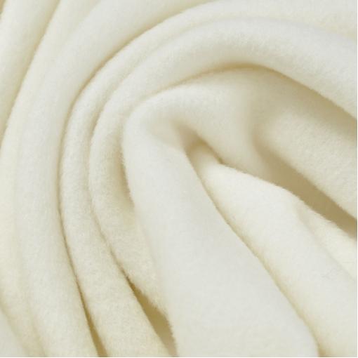 Пальтовая мелковорсовая белая ткань кашемир с бамбуком