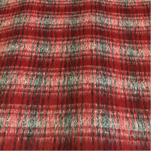 Ткань пальтовая ворсовая Burberry в красных тонах