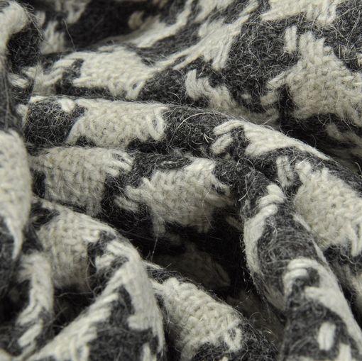 Ткань пальтово-костюмная в серо-белую гусиную лапку