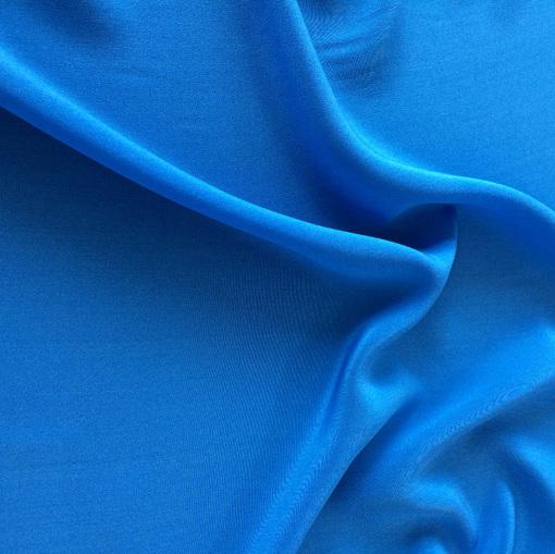 Шелк креп шифон ярко-голубой