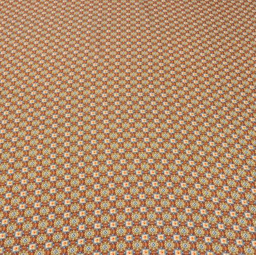 Шелк мозаика желто-оранжевая