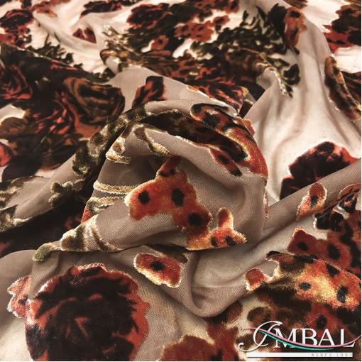 Бархат деворе вискоза с нейлоном дизайн D&G античные розы