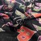 Джерси вискозное стрейч с люрексом Moschino сердца на черном фоне