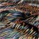 Мех искусственный стрейч на трикотажной основе ворс 5 см с разноцветными вкраплениями