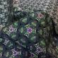 Жаккард нарядный Aspesi орнамент на синем фоне