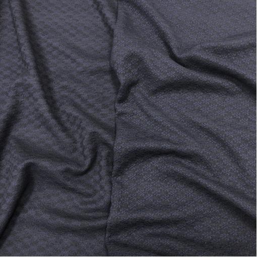 Шанель двухсторонняя шерстяная стрейч костюмная темно-синего цвета