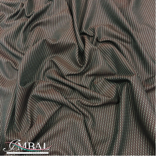 Жаккард нарядный стрейч дизайн Ferretti хамелеон с зелено-свекольным отливом