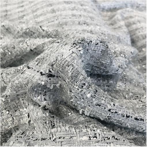Шанель нарядная крупная клетка с серебристым люрексом